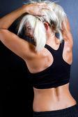 Fitness woman rear view — Стоковое фото