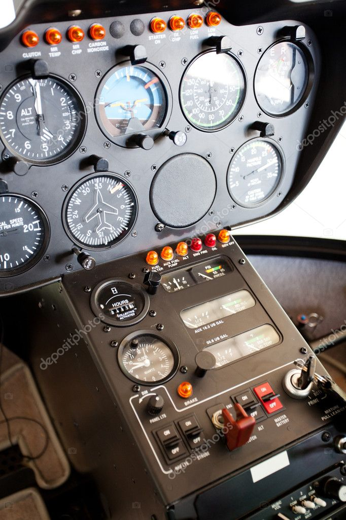 Helicopter instrument and control panel — Stock Photo #10675668