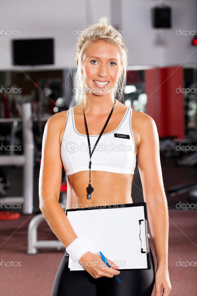 Young female school sport coach — Stock Photo #10678436