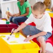 Stock Photo: Kindergarten kids painting