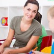 Preschool teacher — Stock Photo