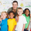Preschool kids and teacher — Stock Photo #10683132