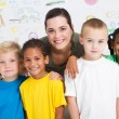 Preschool kids and teacher — Stock Photo #10683146