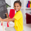 Stock Photo: Little boy in kindergarten