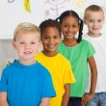 Preschool students in classroom — Stock Photo