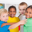 Stock Photo: Group of happy preschool kids