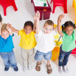 Stock Photo: Young preschool children in classroom