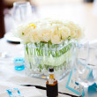 Table set for wedding — Stock Photo