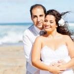Loving newlywed couple — Stock Photo