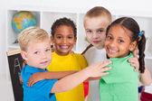 Skupina happy předškolní děti — Stock fotografie