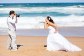 Wedding photo shoot — Stock Photo