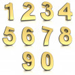 Stock Photo: Metal numbers set
