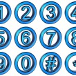 Royalty-Free Stock Photo: Numbers set