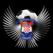 Croatia Soccer Ball - Stockfoto