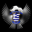 Greece Soccer Ball - Lizenzfreies Foto