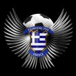 Greece Soccer Ball - 图库照片