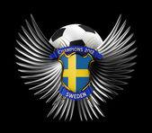 Sweden Soccer Ball — Stock Photo
