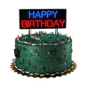Birthday Cake for Geeks — Stock Photo