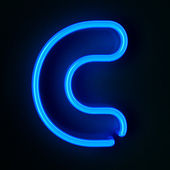 Neon Sign Letter C — Stock Photo