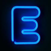 Neon Sign Letter E — Stock Photo