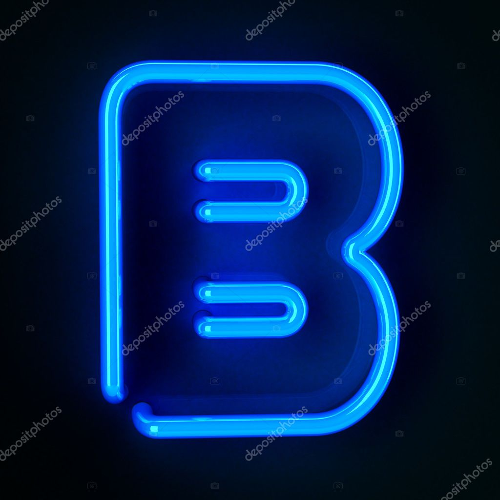 Highly detailed neon sign with the letter B  Foto Stock #8805040