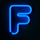 Neon Sign Letter F — Stock Photo