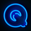 Neon Sign Letter Q — Stock Photo