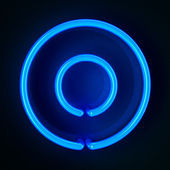 Neon Sign Letter O — Stock Photo