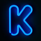 Neon Sign Letter K — Stock Photo