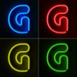 Royalty-Free Stock Photo: Neon Sign Letter G