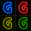 Neon Sign Letter G — Stock Photo