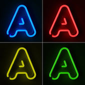 Neon Sign Letter A — Stock Photo
