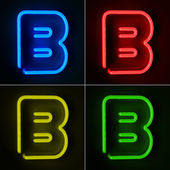 Neon Sign Letter B — Stock Photo