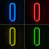 Neon Sign Letter I — Stock Photo