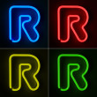 Neon Sign Letter R — Stock fotografie