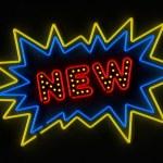 New neon sign — Stock Photo #8989292
