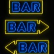 Neon Bar Sign — Stockfoto