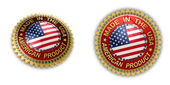 Made in the USA Seal — Stock Photo