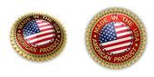 Made in the USA Seal — Zdjęcie stockowe