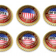 Presidential Election 2012 Buttons — Stockfoto