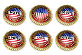 Presidential Election 2012 Buttons — Stock Photo