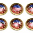 Barack Obama Presidential Election 2012 Buttons — 图库照片