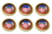 Barack Obama Presidential Election 2012 Buttons — Zdjęcie stockowe