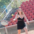 Tennis girl. - Stock Photo