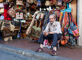 Bag seller at the grand bazaar. — Stock Photo