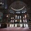 图库照片: Interior of Blue Mosque / Istanbul, Turkey