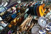 Music instruments shop. — Stock Photo
