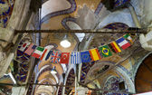 Flags in the grand bazaar in Istanbul. — Stock Photo
