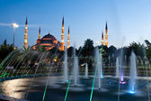 Blue Mosque in evening - Istanbul, Turkey. — Stock Photo