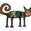 Colorful cat — Image vectorielle